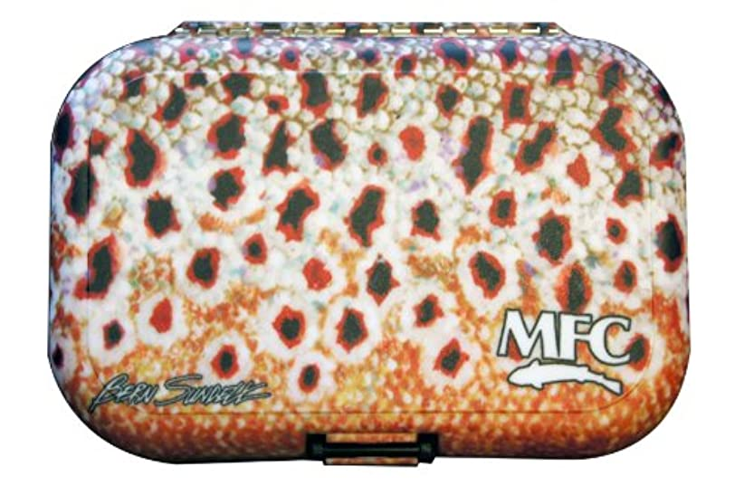 対処する暖かく列挙するMFC Sundell Plastic Fly Box, Brown Skin