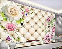 Weaeo カスタム大きな壁画の壁紙の柔らかい袋は壁のためのブドウの写真の壁紙の部屋のベッドルームの壁紙をバラ3 D-120X100Cm