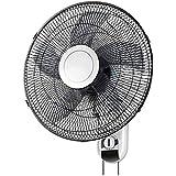 扇風機、ウォールマウント|マウサー3スピード設定|スイング60W電源、居間、レストランなどに適しています(黒)