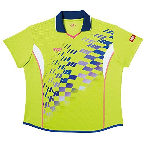 TSP 卓球 レディスリップルシャツ ライム 3Sサイズ 032410032410