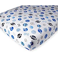 Babies R Us Percale Crib Sheet - Tossed Sports by Babies R Us