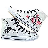 Death Noteコスプレ靴キャンバスシューズスニーカーホワイト