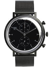 [HYAKUICHI 101] 日本製 腕時計 ウォッチ クロノグラフ スモールセコンド クラシック ブラック メンズ