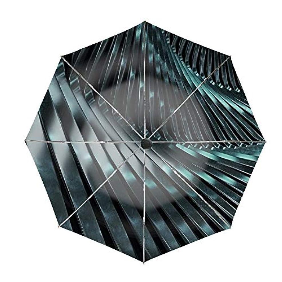 ナイトスポットへこみとげのある折りたたみ傘 スパイラルシルバーメタル レディース用 3段畳み傘 晴雨兼用 210T 超撥水性 遮光 遮熱 99.9% UVカット 超軽量 コンパクト 丈夫 高強度グラスファイバー 収納ポーチ付き 日傘
