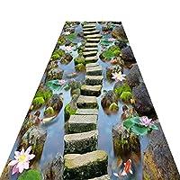 廊下敷きカーペット 3D ロングマット ランナーマット 廊下敷きマット 洗える 素足が喜ぶ 滑り止め付 オールシーズン ゼン 大きいサイズ 60cm / 80cm / 100cm / 120cmワイド (Size : 100x600cm)