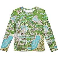 Rainbow Rules Blizzard Beach Map Kids Longsleeve Cotton Blend T-Shirt Unisex
