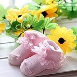 YideaHome赤ちゃん ベビー 新生児 可愛い ソックス 靴下 柔らかい 靴下 ソックス お祝い 出産 祝い ムール用 外用 レース 付