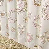 遮光 断熱 レース 厚地カーテン2枚 と ミラーレースカーテン2枚 の セット マリーSET-ピンク 幅100x丈110cm 4枚組