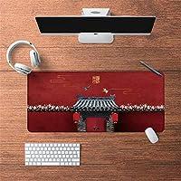 LL-COEUR 古代のスタイル オリエンタル 紫禁城 大型マウスパッド キーボード ゲーミング オフィス テーブルマット が良い 滑り止めゴム底(51)