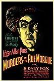 殺人事件in the Rue Morgueムービーポスター11?x 17?Bela Lugosi Sidney (シドニー) Fox Leon Amesブランドン・ハースト Unframed 141479