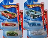 2010 Hot Wheels (ホットウィール) Race World Earth (Complete Set) 1:64 スケール Cars - 01 Nerve Hammer, 02 Scion xB, 03 Paradigm Shift, 04 Stockar ミニカー ミニチュア 模型 プレイセット自動車 ダイキャスト (並行輸入)