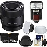 Sonyアルファe-mount FE 50mm f / 2.8マクロレンズとFlash + 3UV / CPL / nd8フィルタ+フード+ソフトボックス+ディフューザー+キット