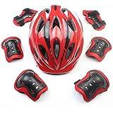 自転車 & スケートヘルメット、安全スポーツ保護ギアセット膝/肘/手首パッドローラーブレード保護ギア年齢3?11