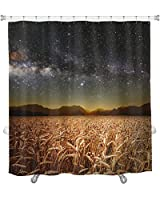 "Gear New""Field of Grass"" Shower Curtain, 74"" X 71"" [並行輸入品]"