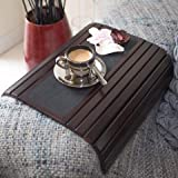 Couch arm Table Sofa Arm Tray - Flexible Foldable Coaster Tray. C Table Drinks, Organizer, Recliner Cup Holder Side Chair. Tv