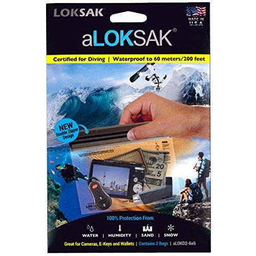 LOKSAK(ロックサック)万能防水・防塵ケース S(2枚入)ダブルジッパーデザイン