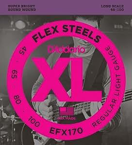 D'Addario ダダリオ ベース弦 フレックススティール Long Scale .040-.100 EFX170 【国内正規品】