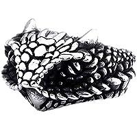 指輪 リング メンズ ベビードラゴンステンレスリング(STR008)サイズ/34号 フリーサイズ 蛇 スネーク サージカルステンレス シルバー アニマル 龍 竜 辰年 ペアリング