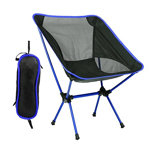 moonwind アウトドアチェア 折りたたみ椅子 軽量 コンパクト 背もたれ付き 耐荷重約150kg 超軽量 収納バッグ付き アルミチェア ツーリング キャンプ 登山 釣り バイク ハンモック トレッキング