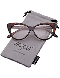 SojoS ソホス ファッション 女性 猫目 サングラス プラシック フレーム ミラー レンズ SJ2040