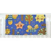 KESS InHouse Jane Smith Lightning Bug Blue Teal Fleece Baby Blanket 40 x 30 [並行輸入品]