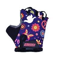 ZippyRooz幼児&リトルキッズバイク用グローブ(バランスおよびペダル自転車(旧WeeRiderz)1〜8歳用)男の子と女の子のための6つのデザイン(Peace、Little Kids XL(7-8))