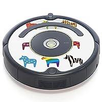iRobot ルンバ Roomba 専用スキンシール ステッカー 527 530 537 560 577 620 621 622 630 650 対応 スポーツ 馬 ペガサス イラスト 004921
