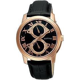 SONNE (ゾンネ) 腕時計 ブラック S113N メンズ