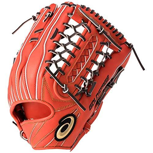 アシックス(asics) 軟式 野球 グローブ 外野手用(タテ) 高校野球対応 GOLD STAGE SPEED AXEL ゴールドステージ スピードアクセル サイズ14 3121A330 Rオレンジ/Dブラウン 612 LH(右投げ用)