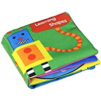 (Shape) - E-SCENERY Soft Activity Baby Book, Early Educational Toys for Kids Baby (Shape)