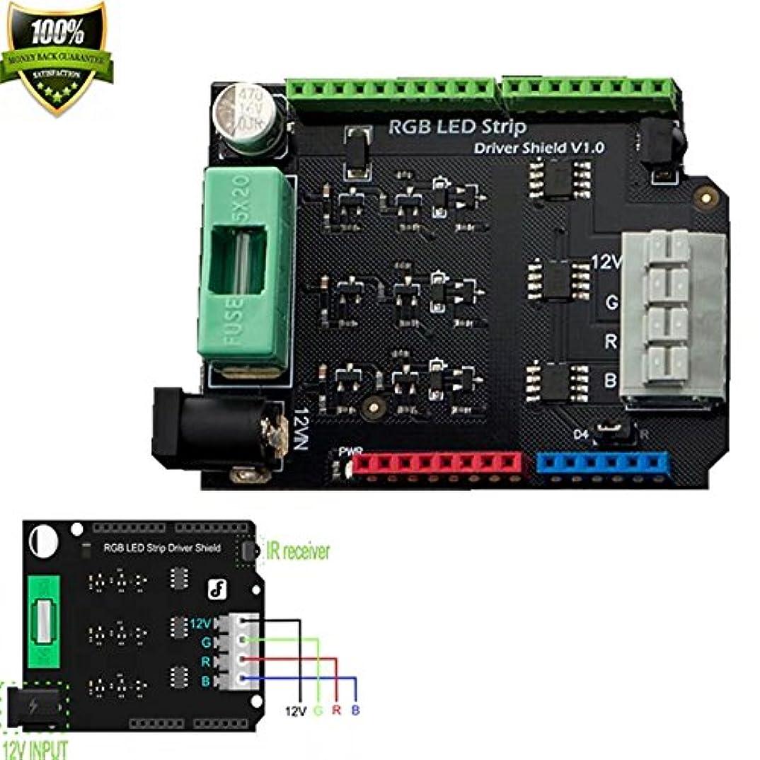 収益アサーシーボードRGB LEDストリップドライバーこのRGB LEDストリップShieldシールドv1 . 0 /にはに必要なすべてのコンポーネントを構築A Super Cool Rgb (または他の3つチャネル) LEDプロジェクトwith your Arduino。