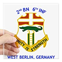 """CafePress–2nd Bn 6th Inf Gear Squareステッカー–Squareバンパーステッカー車デカール、3"""" x3"""" ( Small )または5"""" x5"""" ( Large ) Large - 5x5 0648021087619CE"""