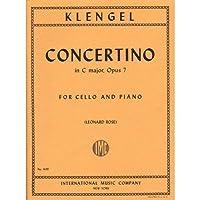 Klengel Julius Concertino No1 in C Major Op. 7 Cello Piano - by Leonard Rose - International Music [並行輸入品]