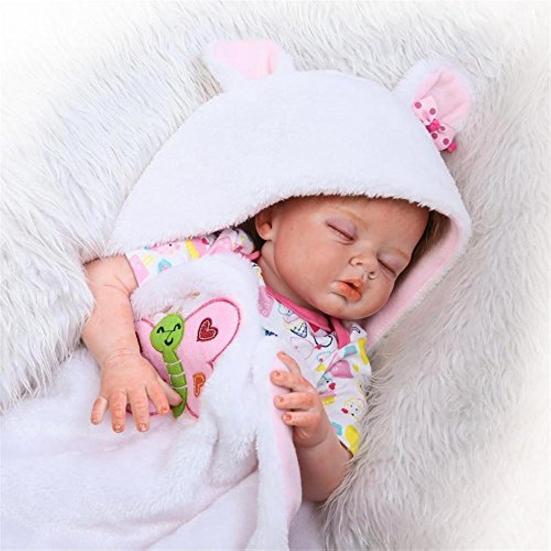 Sleeping解剖学的に正しいガールRebornベビー人形ソフトSiliconeビニールリアルな22インチ磁気おしゃぶり子供おもちゃハンドメイドまつげヘア