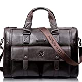 1PCS、ファッションメンズ100%の高級ビジネスヴィンテージラップトップバッグブリーフケースビッグキャパ水平ハンドバッグトラベルバッグ