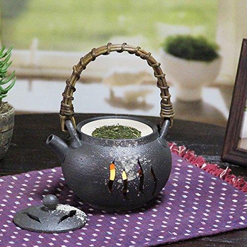 信楽焼 【土瓶 茶香炉 ty-0003】 陶器 焼き物 信楽焼き 陶器アロマ キャンドル 茶こうろ 香炉
