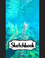 """Sketchbook: Adventure Fans Cheerful Clownfish Funny Swimming Finding Nemo Ocean Life, Blank Pages for Drawing and Creative Doodling: 110 Pages, 8.5"""" x 11"""". Kraft Cover Sketchbook ( Blank Paper Drawing and Write Journal )"""