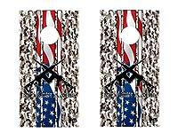 FGDブランドCornholeラップセット2nd Amendment Molon Labe Camoラミネートビニールデカール