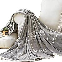 スーパーソフト シャギー 毛布, ぴったり ふわふわ 軽量 暖かい エレガントな居心地の良い ぬいぐるみ シェルパ フリース ファイバー 掛布 薄いセクション-D 180x200cm(71x79inch)