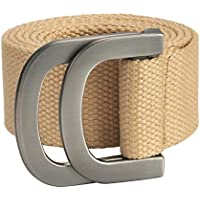 Ayliss Mens Belts Military Web Canvas Double D-Ring Buckle Tactical Belt