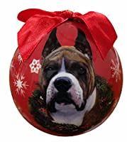 Boxer Christmas Ornament Shatter Proof Ball Easy To Personalize A Perfect Gift For Boxer Lovers by E&S Pets
