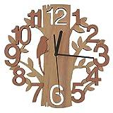 GIFT GARDEN 掛け時計 時計 木製 鳥と木の組合 おしゃれ クロック プレゼント お祝い B6018