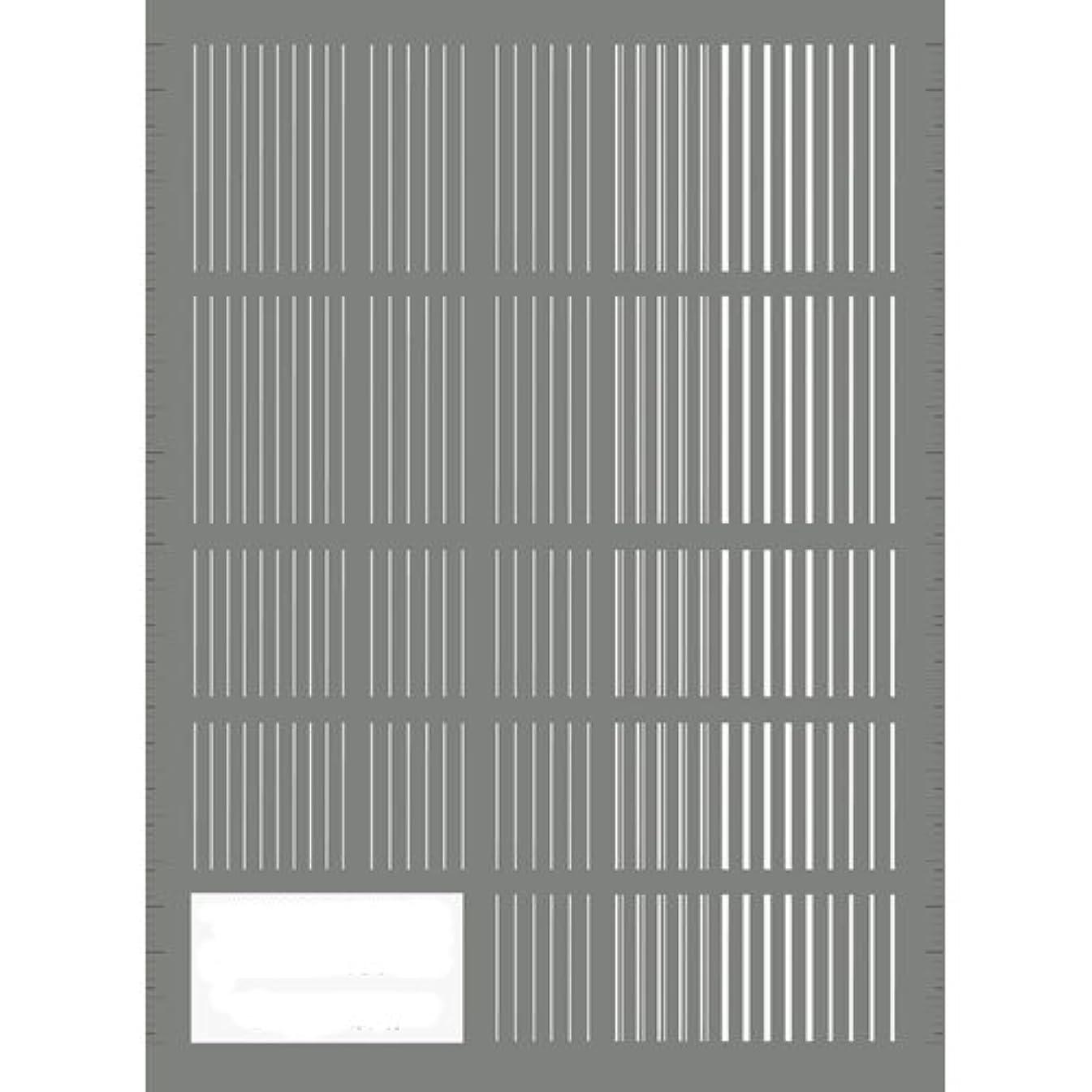反発コーチ懐疑的ツメキラ(TSUMEKIRA) ネイル用シール ピンストライプ ホワイト NN-PIN-101