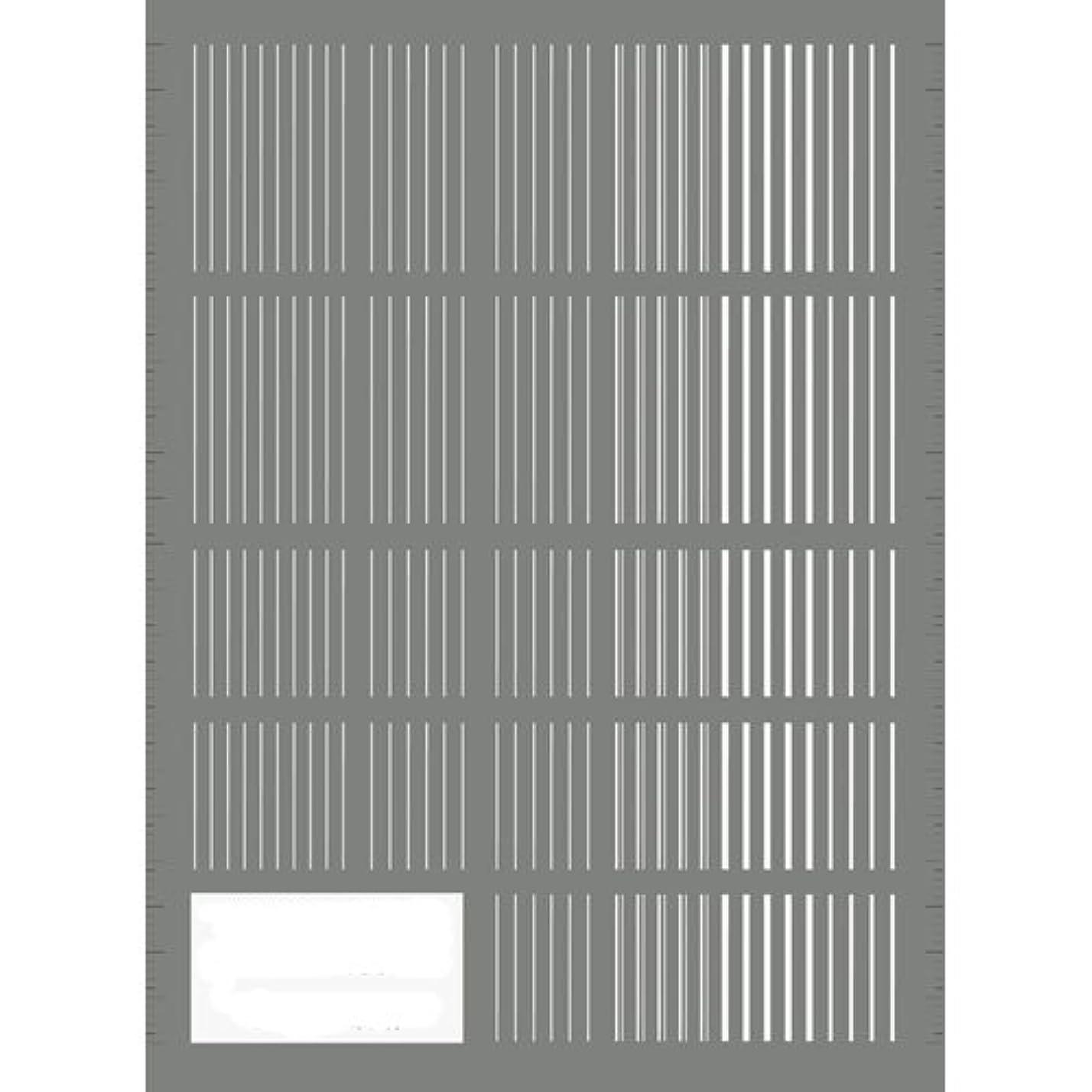 退却北西降下ツメキラ(TSUMEKIRA) ネイル用シール ピンストライプ ホワイト NN-PIN-101