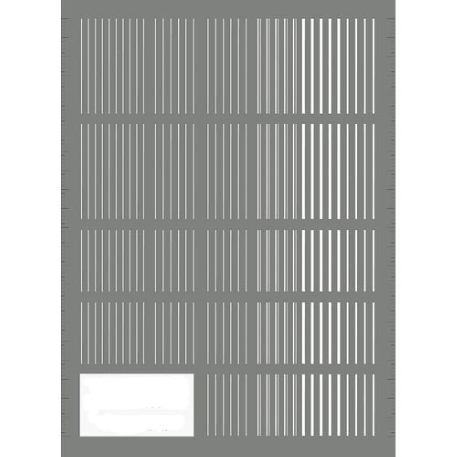 導入するハンカチグラムツメキラ(TSUMEKIRA) ネイル用シール ピンストライプ ホワイト NN-PIN-101