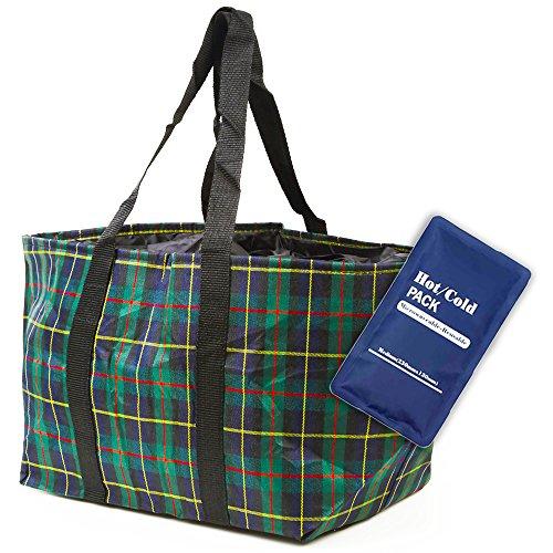 エコバッグ レジカゴ ピクニックバッグ 保冷 保温バッグ 大容量 保冷剤 保温剤 セット 折りたたみ 軽量 26Ⅼ