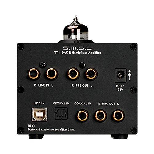 SMSL T1 DAC DSD512管ヘッドホンアンプ384kHz光\同軸の\のUSB\デコーダー