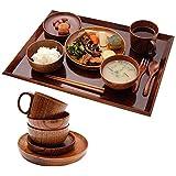 お食い初め 食器セット 天然木製 キッズ食器DXセット(漆塗りトレー付き) おしゃれ 北欧 出産祝い 食器 食い初め膳…