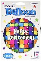 Happy Retirement Squares Foil Balloon 幸せな退職の正方形ホイルバルーン♪ハロウィン♪クリスマス♪
