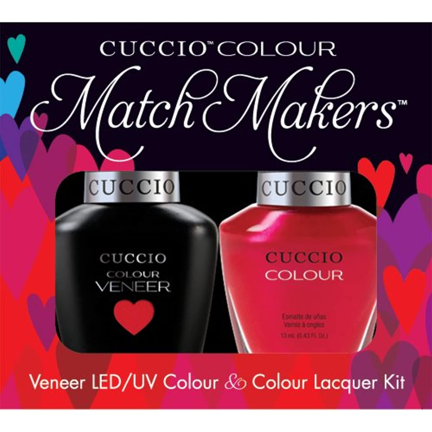 極めて偽造馬力Cuccio MatchMakers Veneer & Lacquer - Bali Bliss - 0.43oz/13ml Each